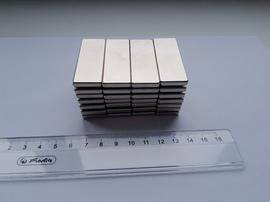 Неодимовая магнитная призма 50х18х4 мм,Ni,№40